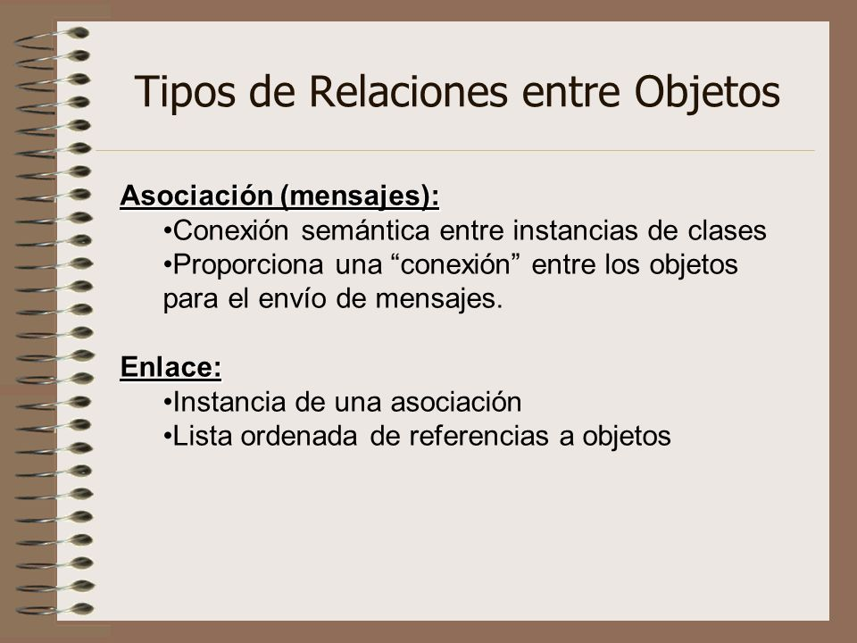 Tipos de Relaciones entre Objetos