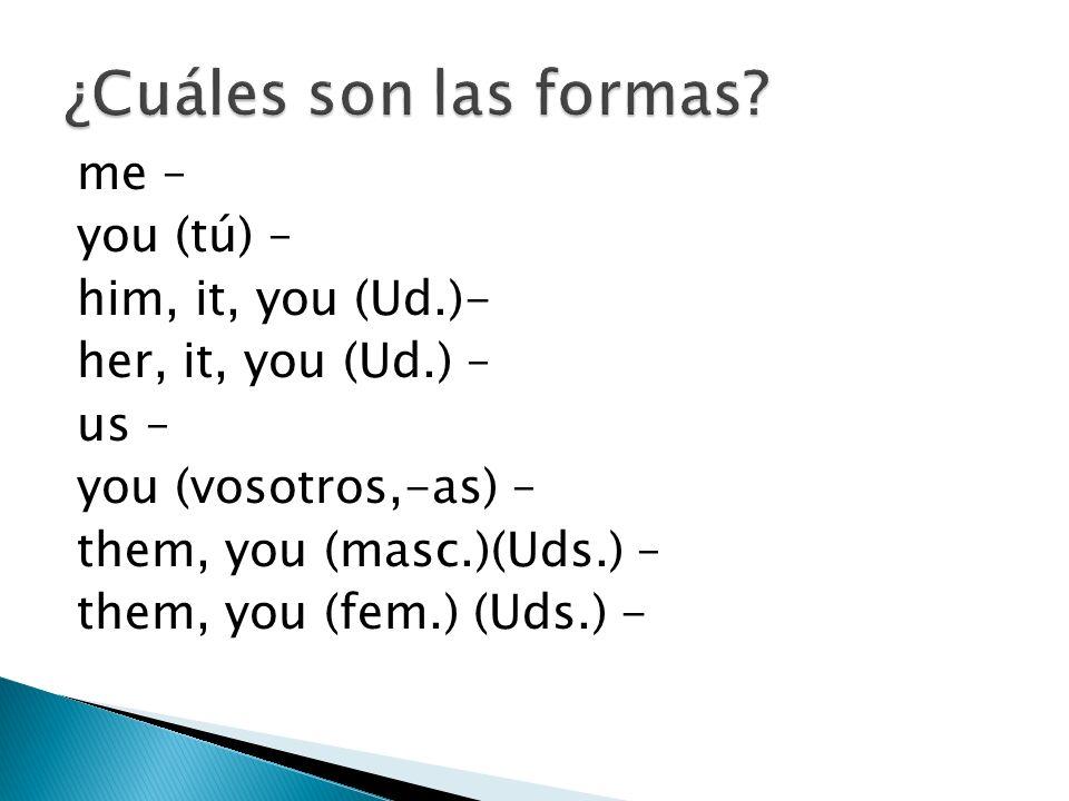 ¿Cuáles son las formas