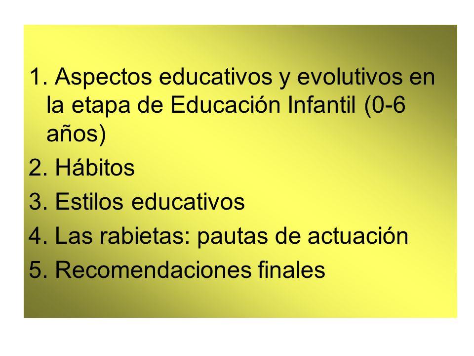 1. Aspectos educativos y evolutivos en la etapa de Educación Infantil (0-6 años)