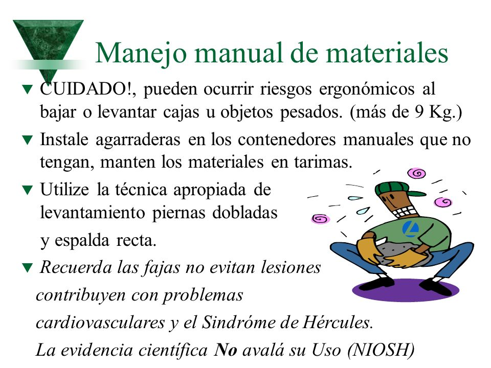 Manejo manual de materiales