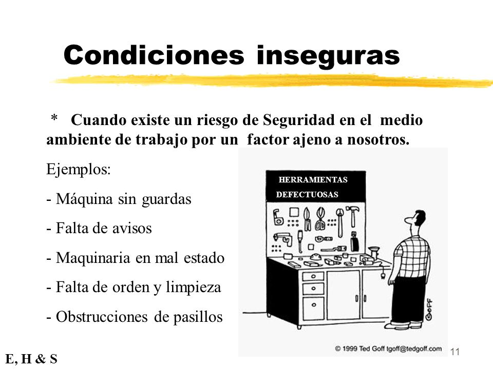 Condiciones inseguras