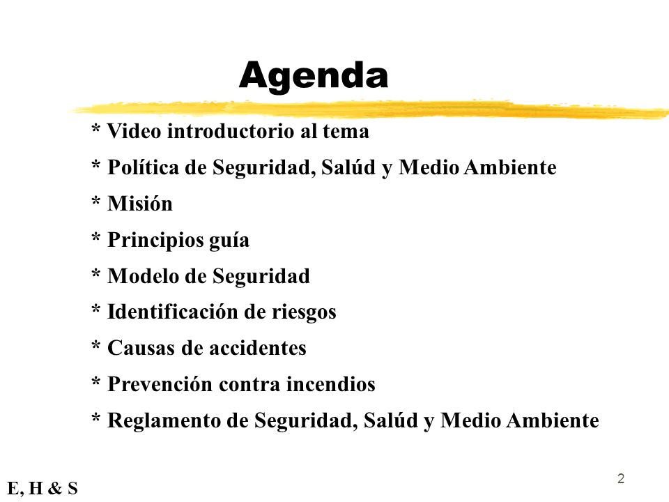 Agenda * Video introductorio al tema