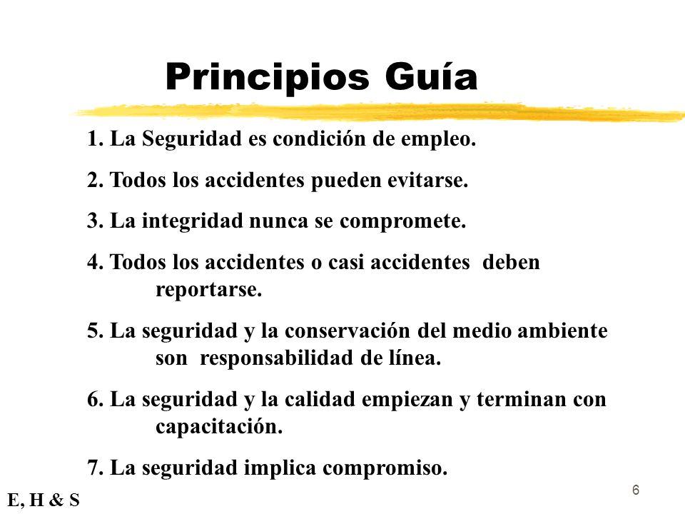 Principios Guía 1. La Seguridad es condición de empleo.