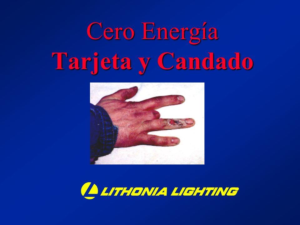 Cero Energía Tarjeta y Candado