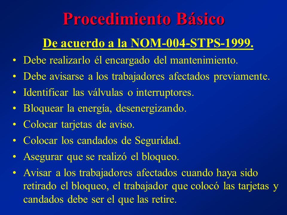 De acuerdo a la NOM-004-STPS-1999.
