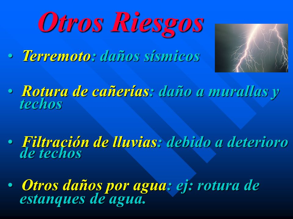 Otros Riesgos Terremoto: daños sísmicos