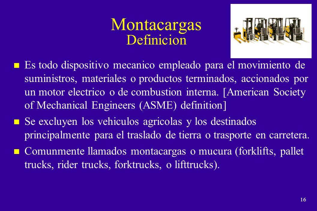 Montacargas Definicion