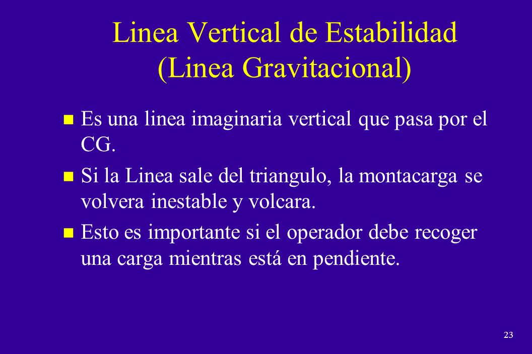 Linea Vertical de Estabilidad (Linea Gravitacional)