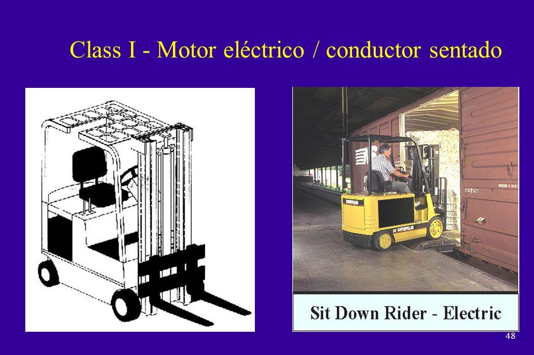 Class I - Motor eléctrico / conductor sentado