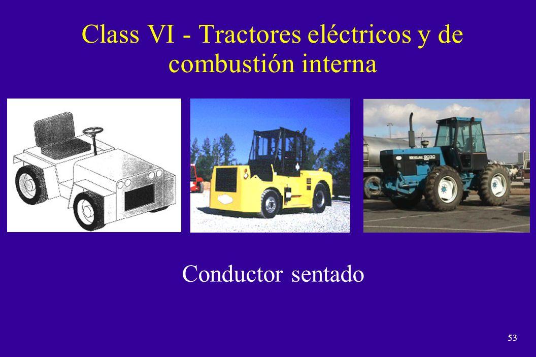 Class VI - Tractores eléctricos y de combustión interna