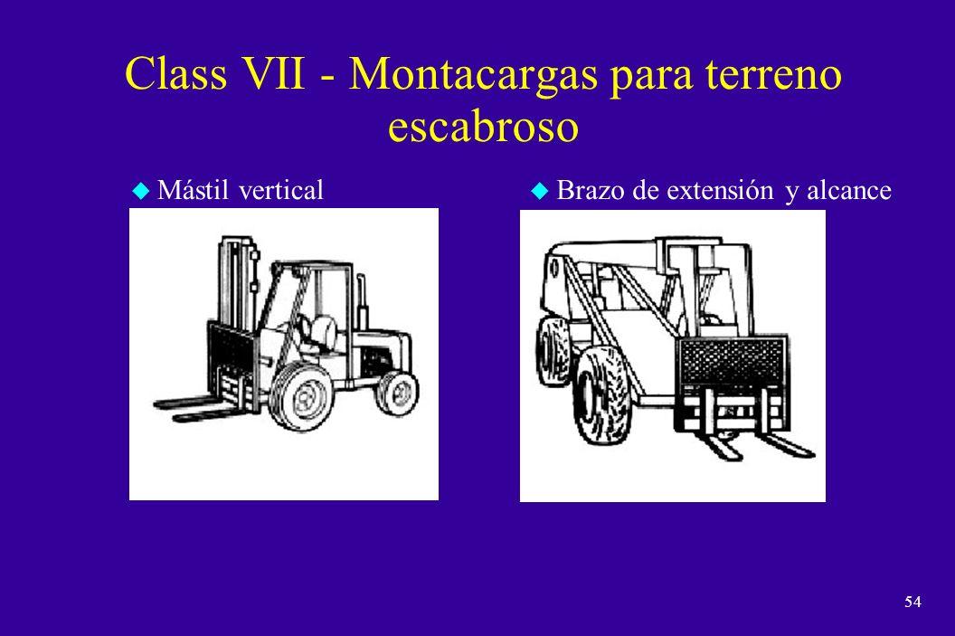 Class VII - Montacargas para terreno escabroso