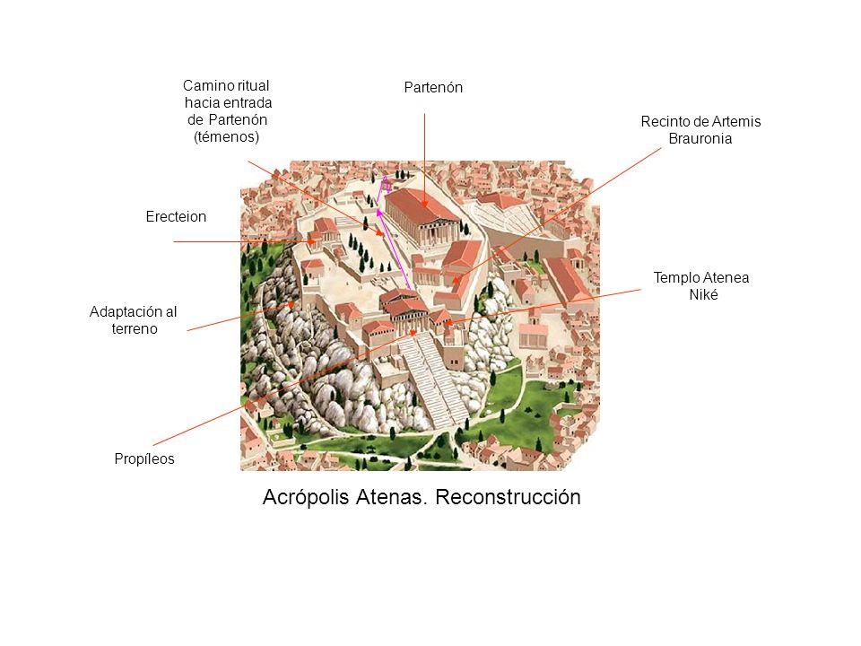 Acrópolis Atenas. Reconstrucción