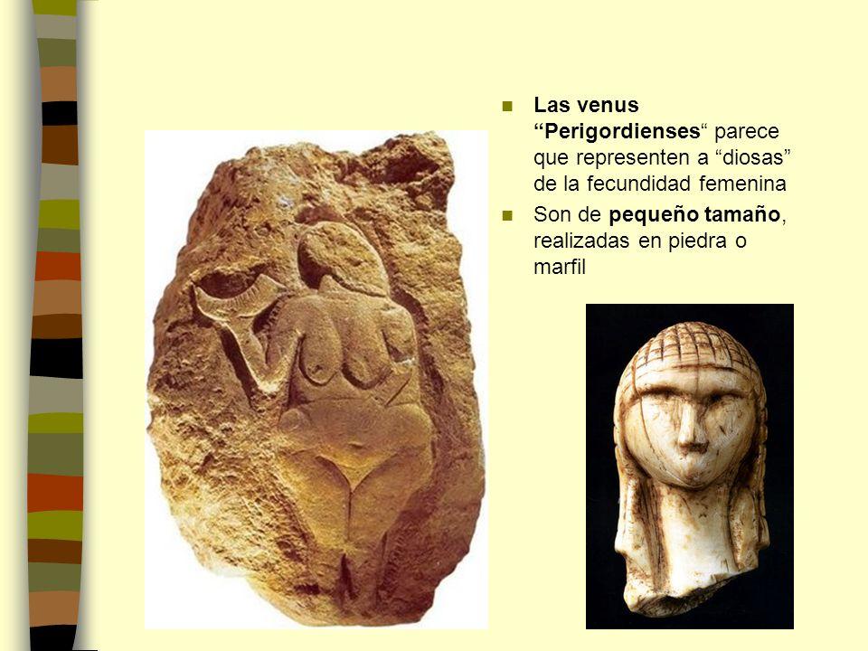 Las venus Perigordienses parece que representen a diosas de la fecundidad femenina