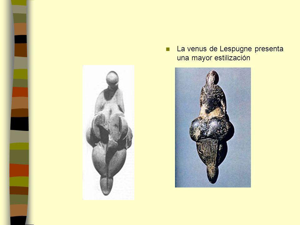 La venus de Lespugne presenta una mayor estilización