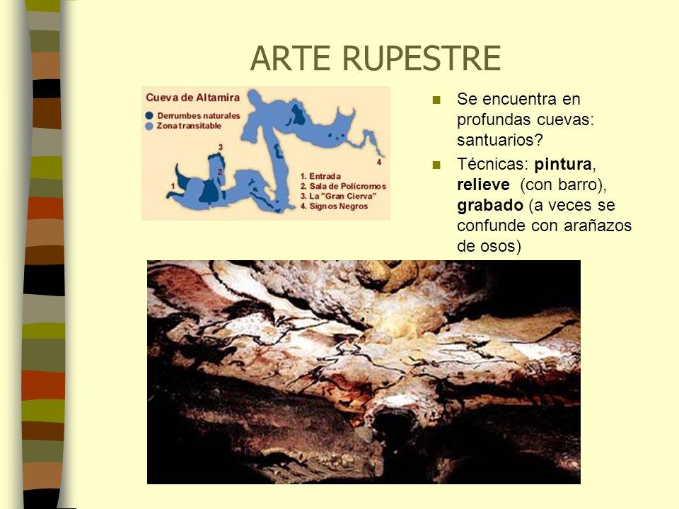 ARTE RUPESTRE Se encuentra en profundas cuevas: santuarios