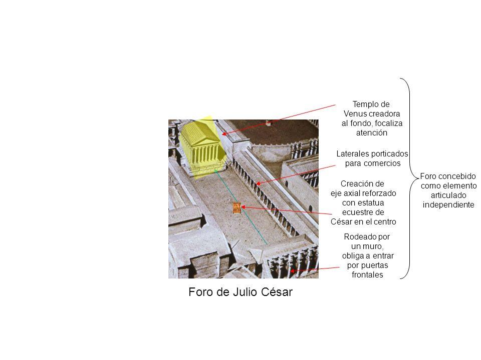 Foro de Julio César Templo de Venus creadora al fondo, focaliza