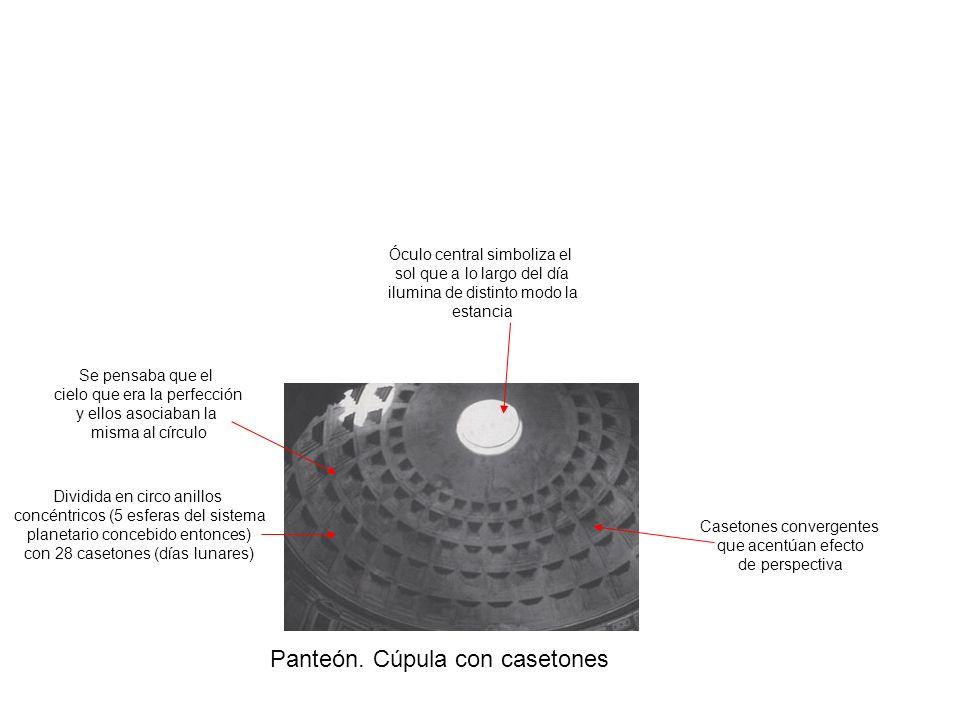 Panteón. Cúpula con casetones