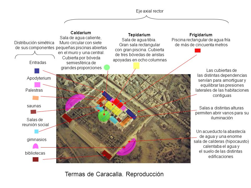 Termas de Caracalla. Reproducción