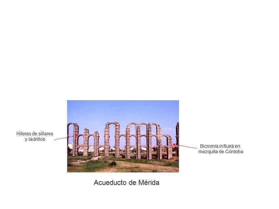 Acueducto de Mérida Hileras de sillares y ladrillos