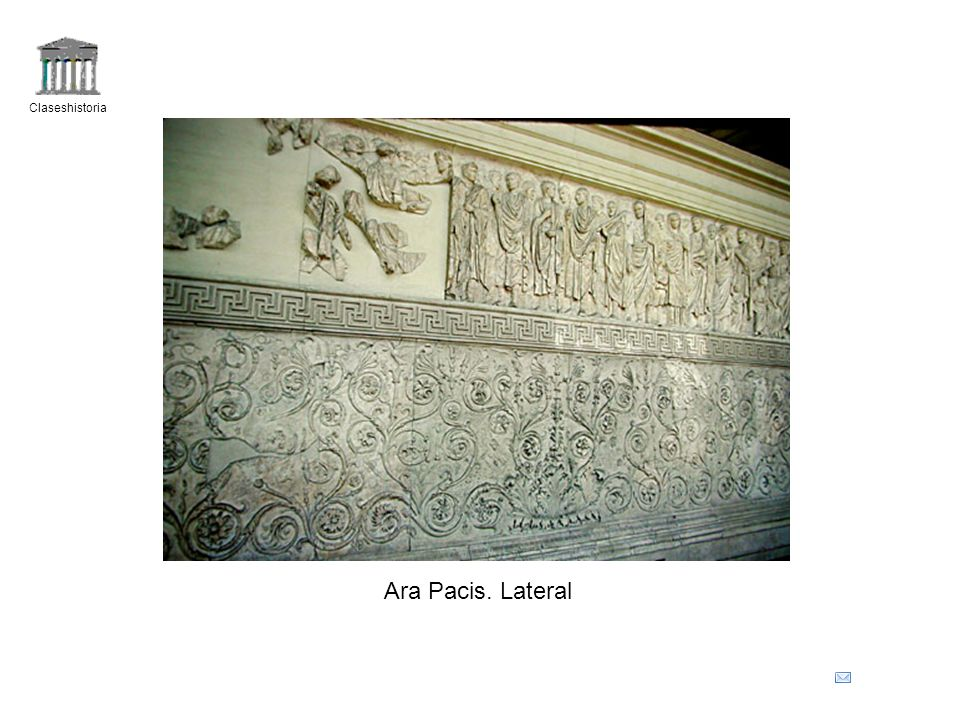 Claseshistoria Ara Pacis. Lateral