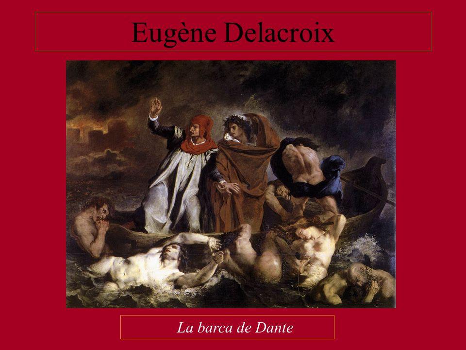Eugène Delacroix La barca de Dante