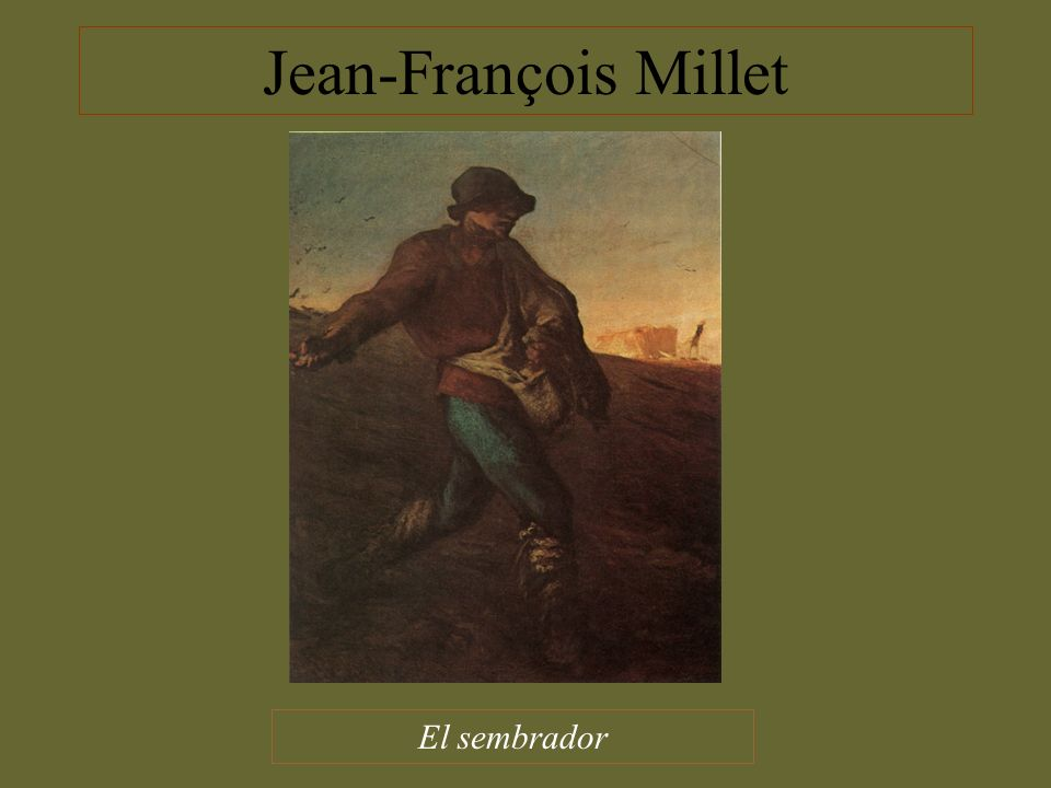 Jean-François Millet El sembrador