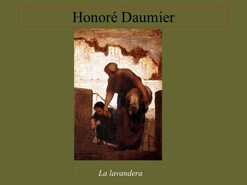 Honoré Daumier La lavandera