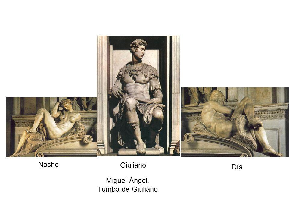 Noche Giuliano Día Miguel Ángel. Tumba de Giuliano