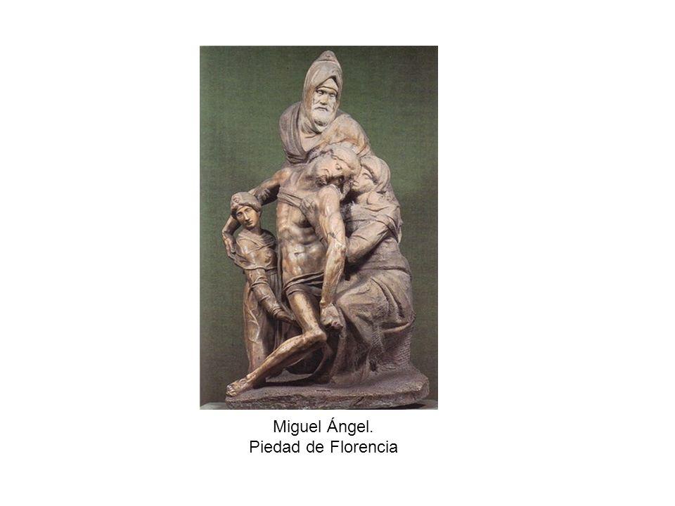 Miguel Ángel. Piedad de Florencia
