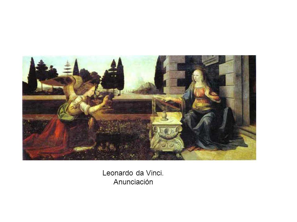 Leonardo da Vinci. Anunciación