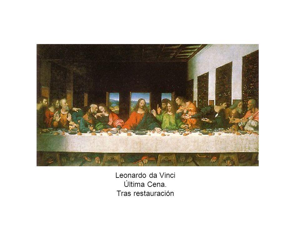 Leonardo da Vinci Última Cena. Tras restauración