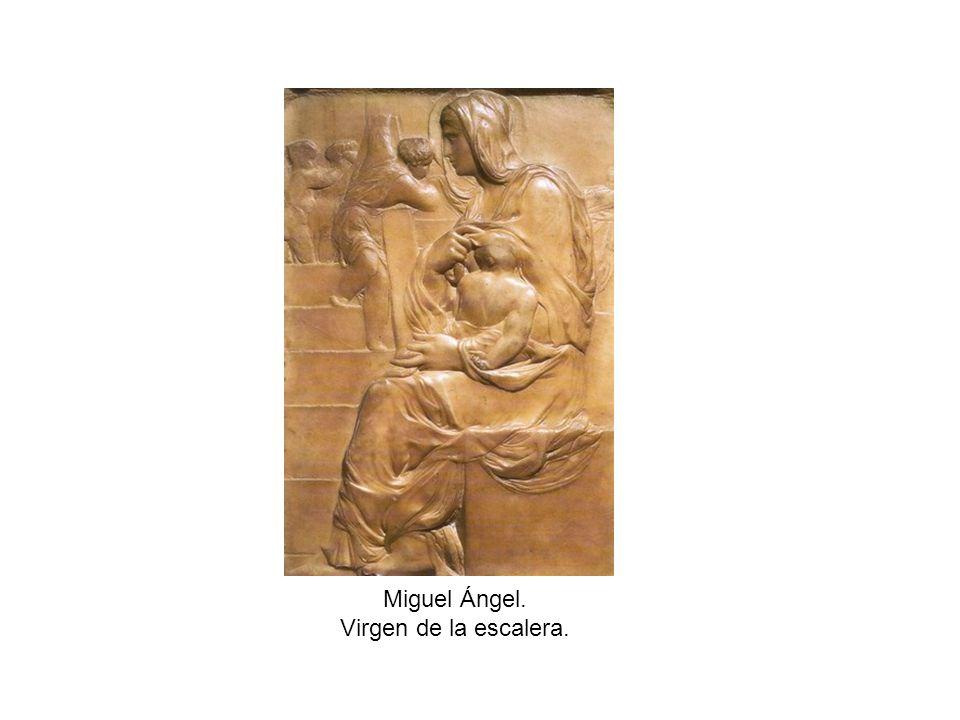 Miguel Ángel. Virgen de la escalera.