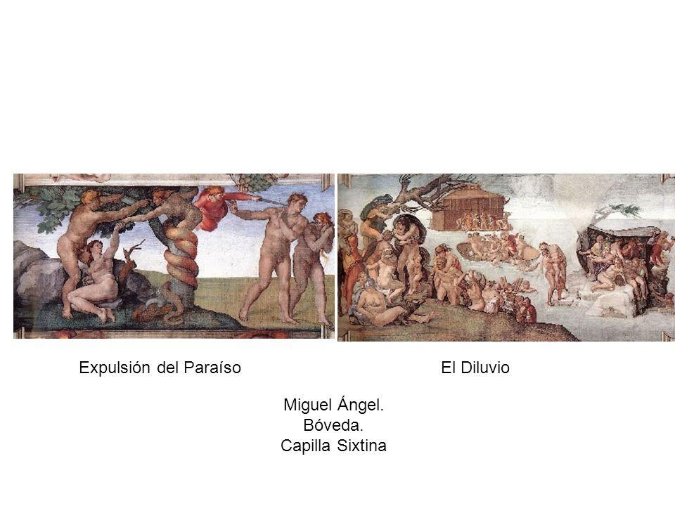 Expulsión del Paraíso El Diluvio Miguel Ángel. Bóveda. Capilla Sixtina