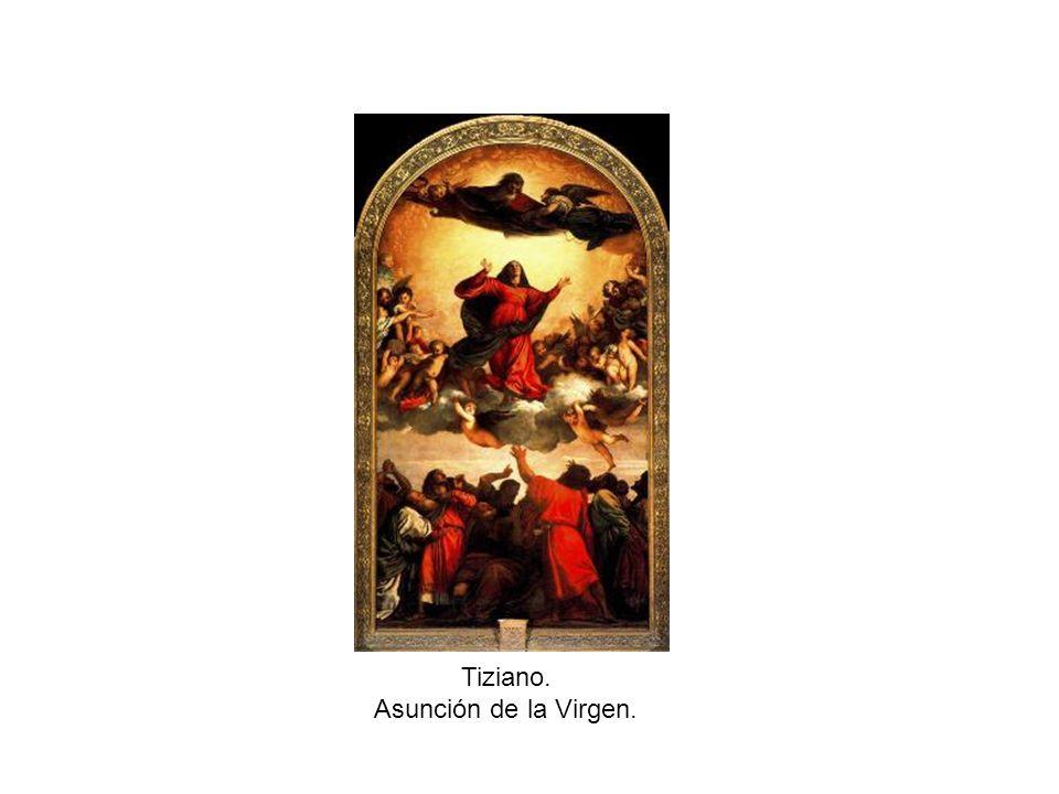 Tiziano. Asunción de la Virgen.