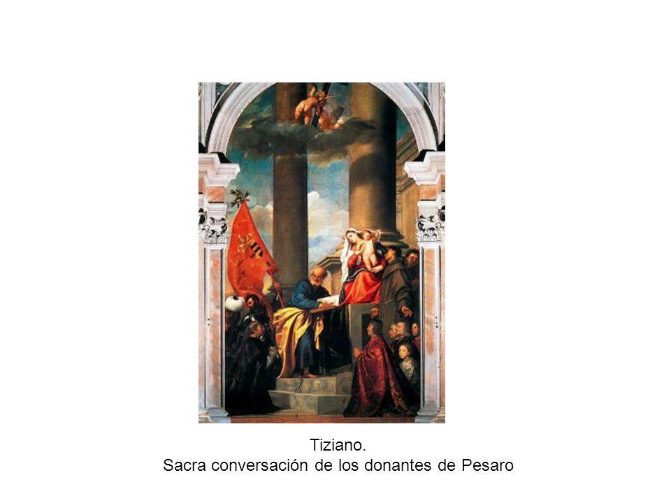 Sacra conversación de los donantes de Pesaro