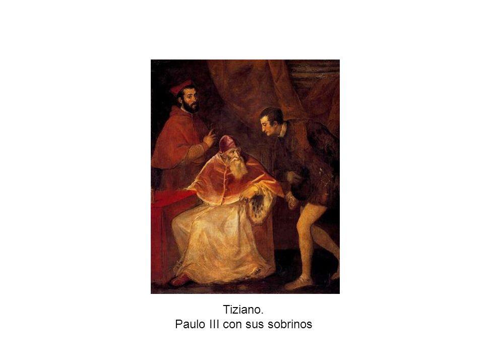 Paulo III con sus sobrinos