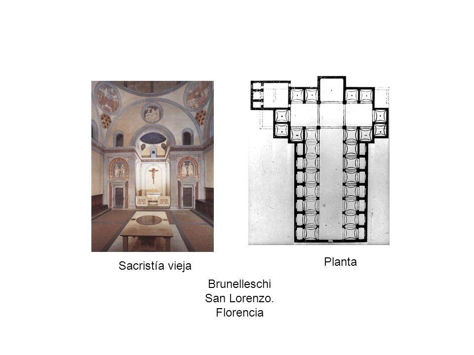 Planta Sacristía vieja Brunelleschi San Lorenzo. Florencia