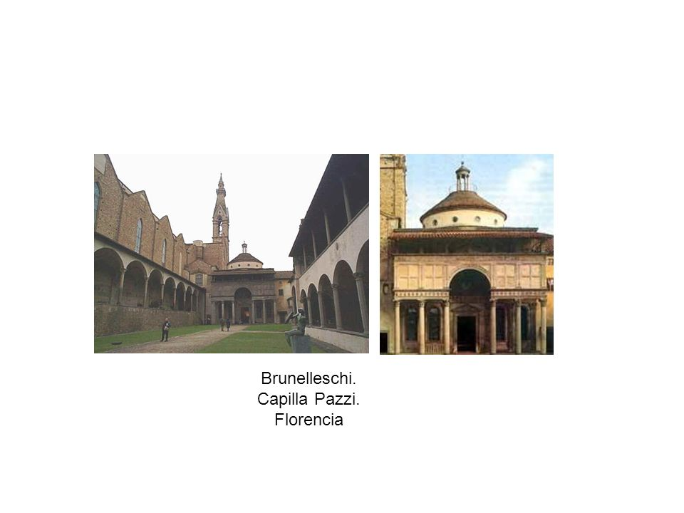 Brunelleschi. Capilla Pazzi. Florencia