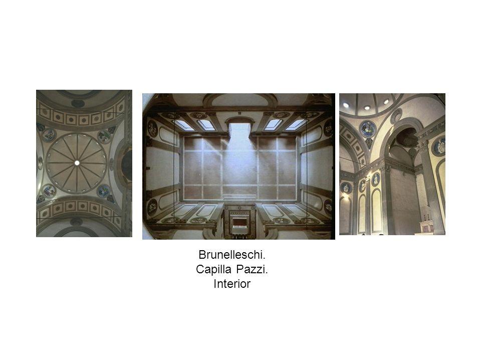 Brunelleschi. Capilla Pazzi. Interior