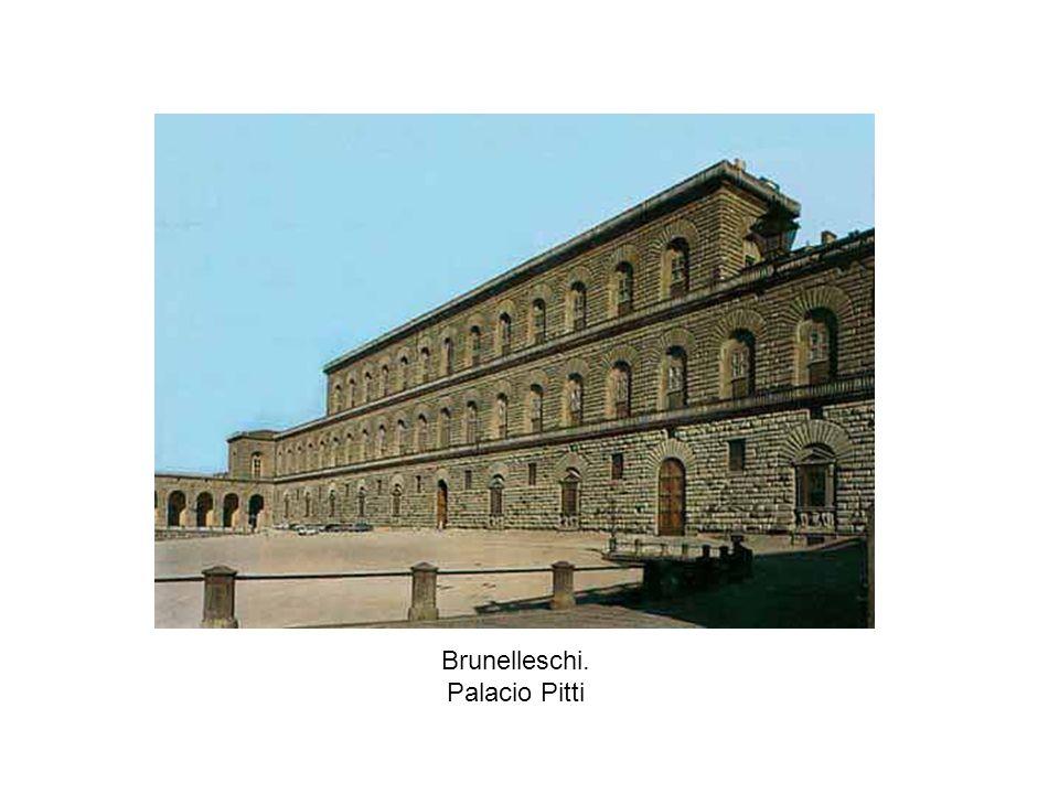 Brunelleschi. Palacio Pitti