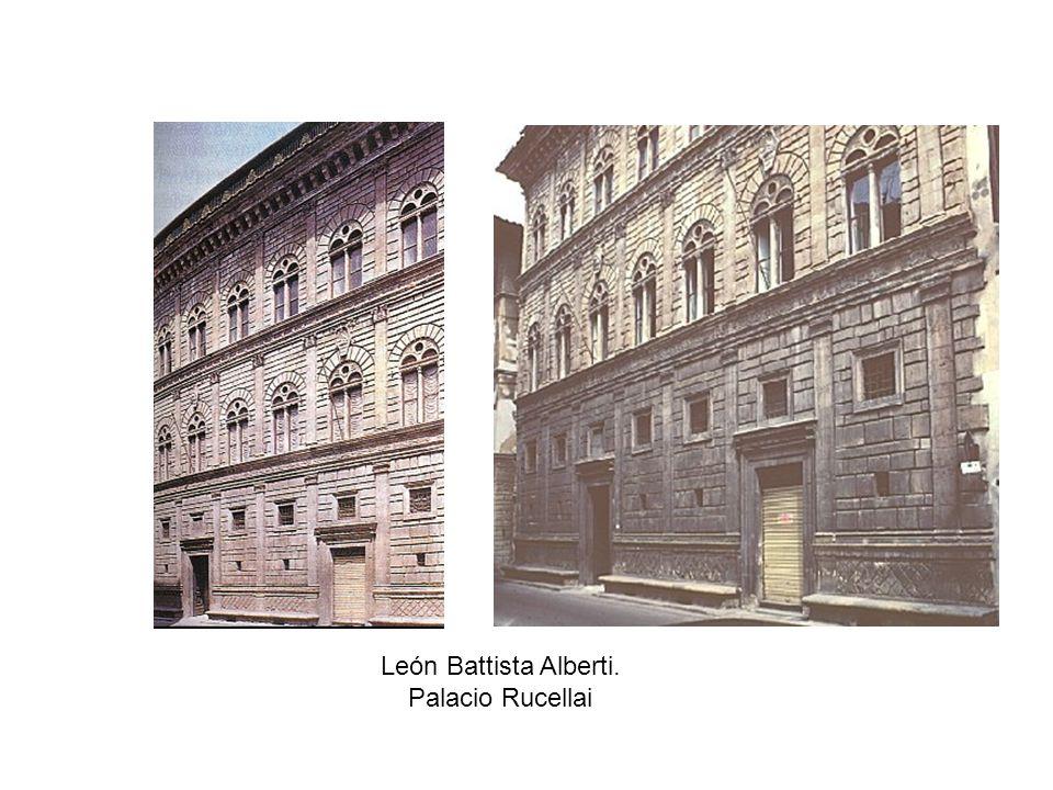 León Battista Alberti. Palacio Rucellai