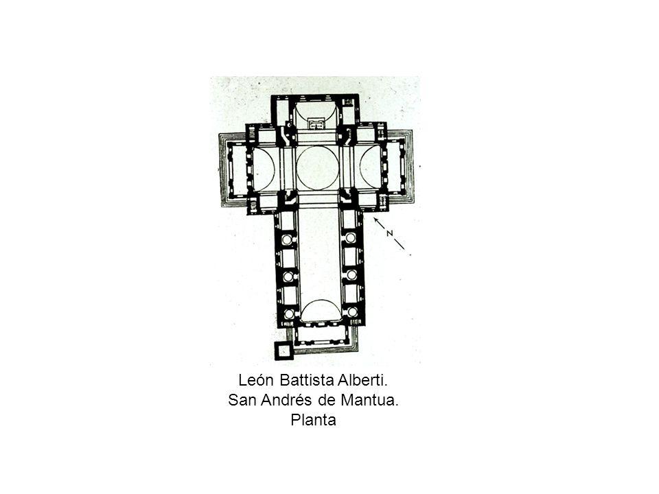 León Battista Alberti. San Andrés de Mantua. Planta