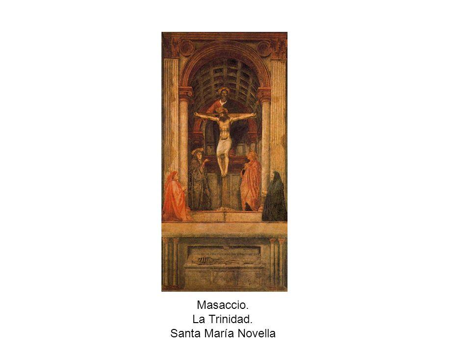 Masaccio. La Trinidad. Santa María Novella