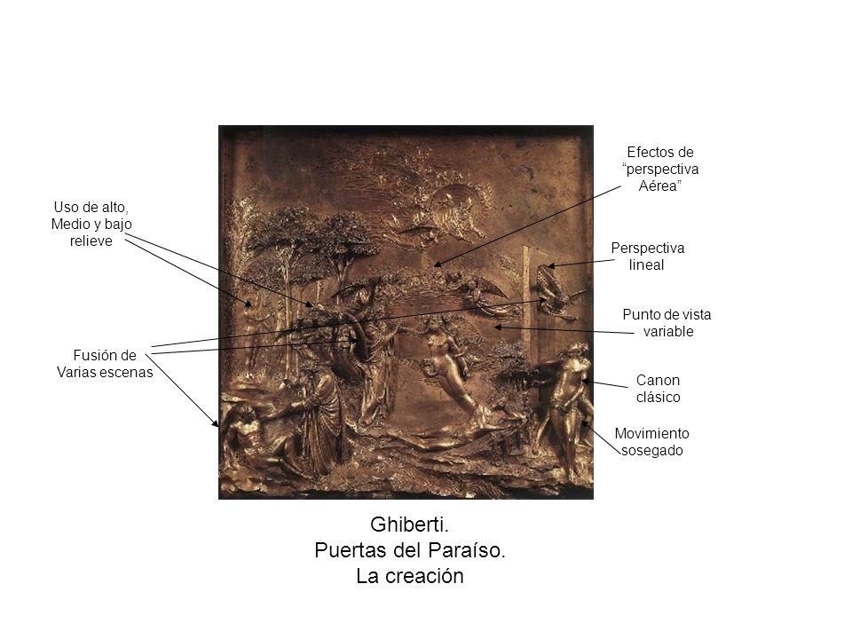 Ghiberti. Puertas del Paraíso. La creación Efectos de perspectiva