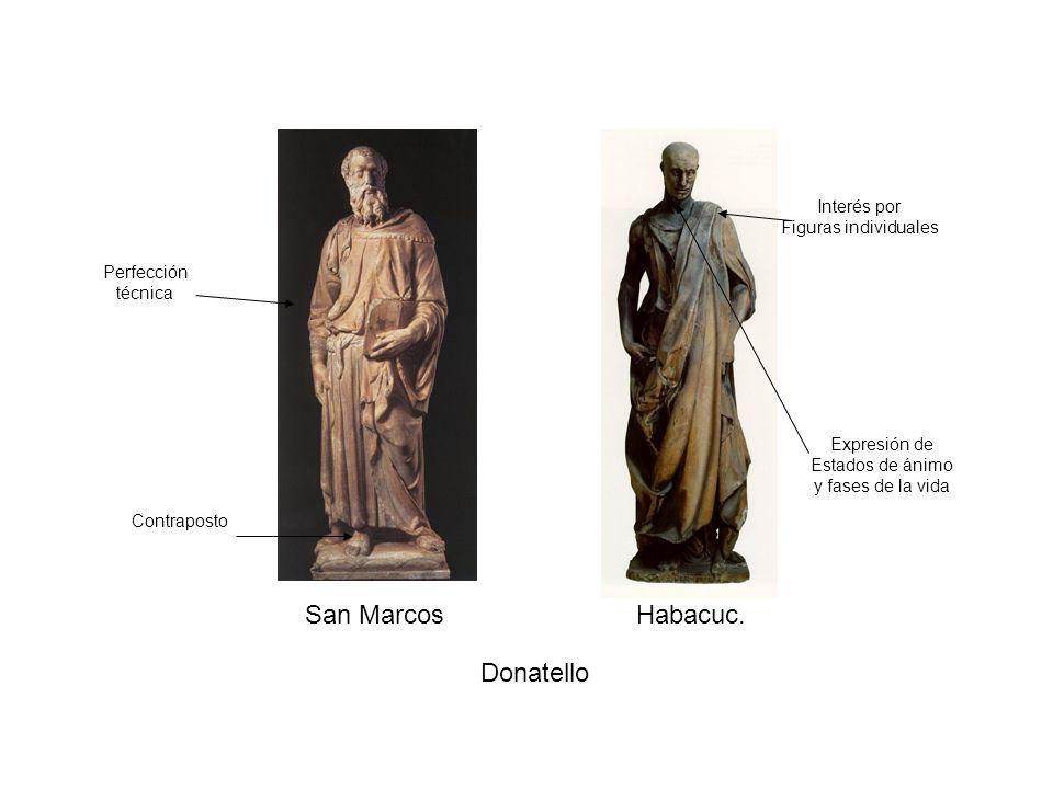 San Marcos Habacuc. Donatello Interés por Figuras individuales