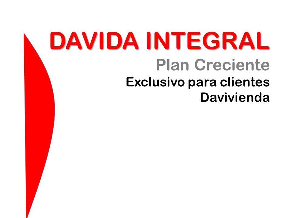 DAVIDA INTEGRAL Plan Creciente Exclusivo para clientes Davivienda