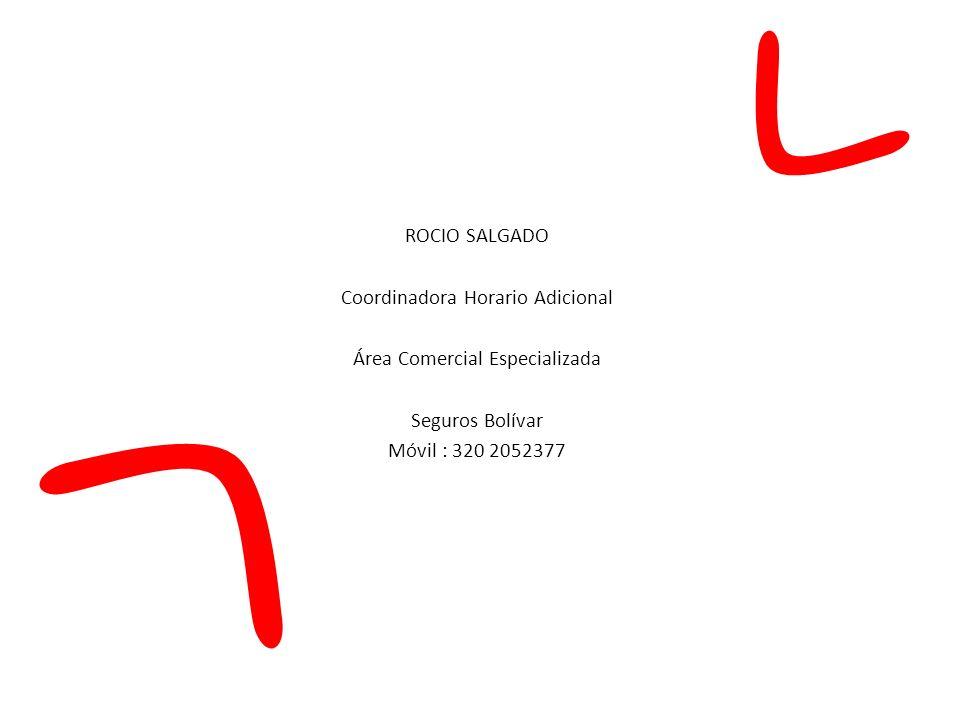 Coordinadora Horario Adicional Área Comercial Especializada