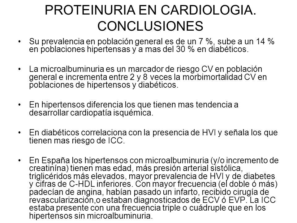 PROTEINURIA EN CARDIOLOGIA. CONCLUSIONES