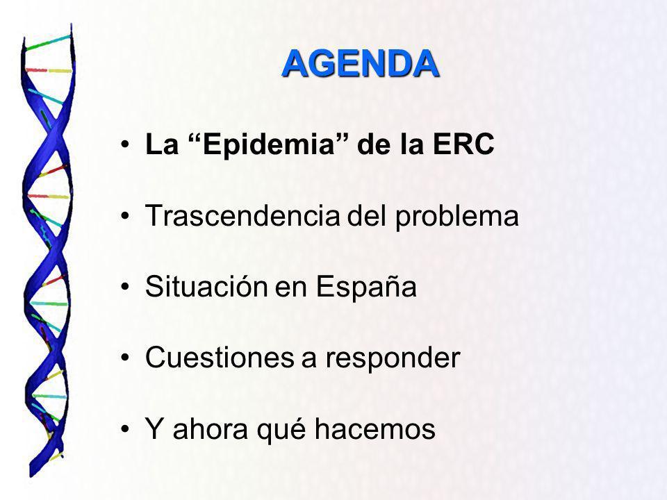 AGENDA La Epidemia de la ERC Trascendencia del problema
