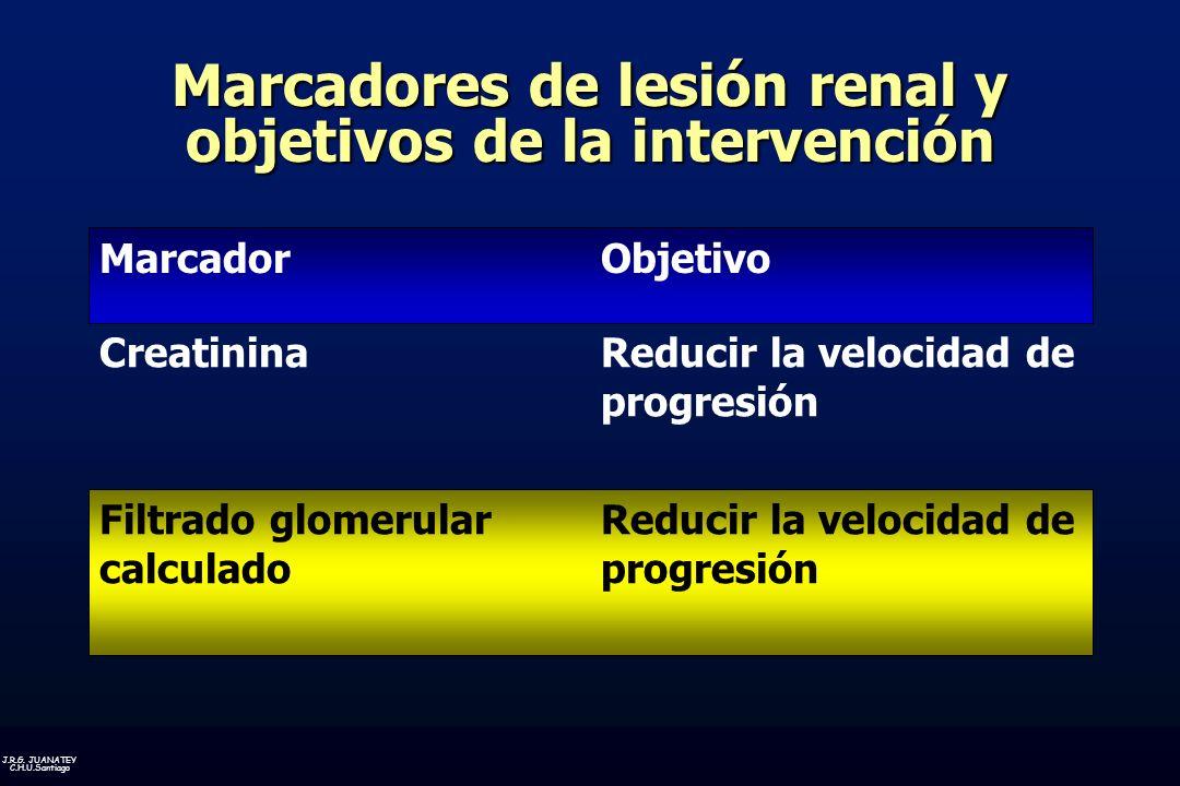 Marcadores de lesión renal y objetivos de la intervención